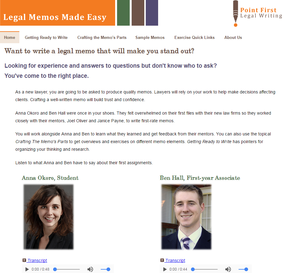 legal memos made easy is a resource for both writing predictive legal memos and developing targeted skills such as writing strong introductions